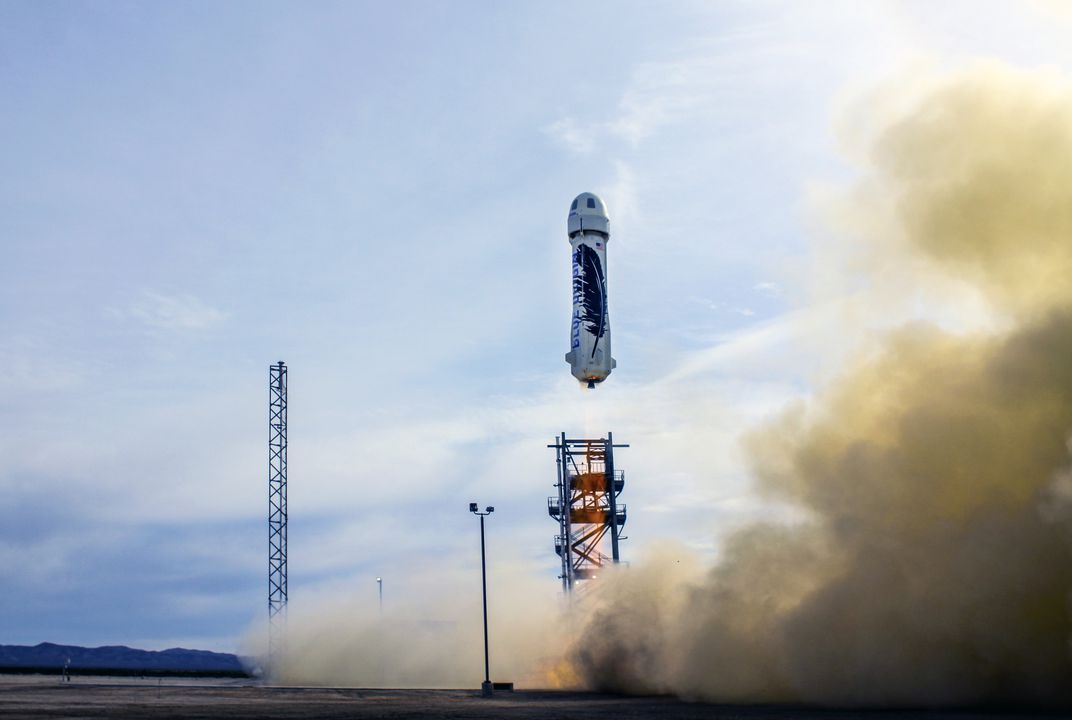 Reusable rocket returns upright