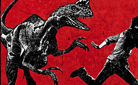 A teaser poster for Terra Nova shows off an imaginary dinosaur called the