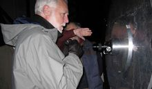 An eyepiece on the 6.5 meter Magellan/Clay telescope allows Secretary Clough to see amazing sights in the night sky