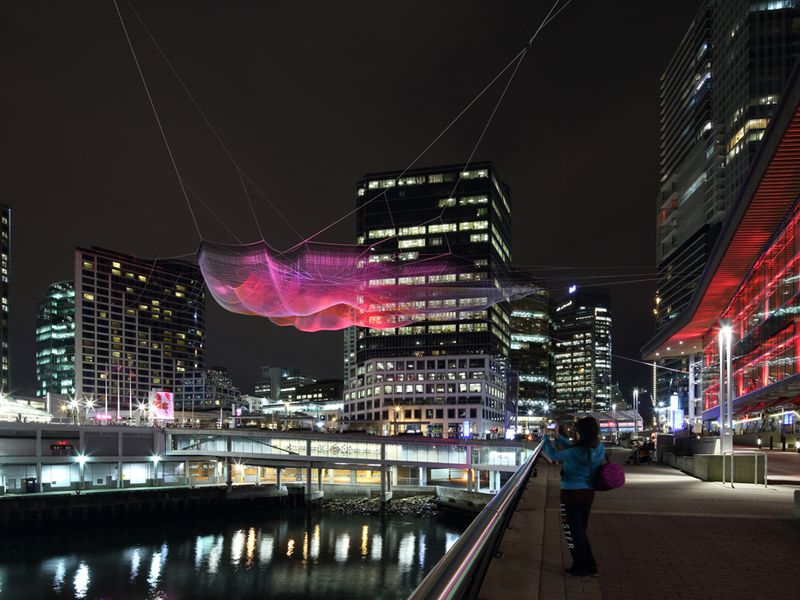 Skies Painted with Unnumbered Sparks Janet Echelman