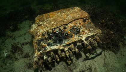 Divers Discover Nazi Enigma Machine Thrown Into the Baltic Sea During WWII