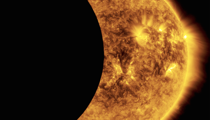Watch a Partial Solar Eclipse From Space