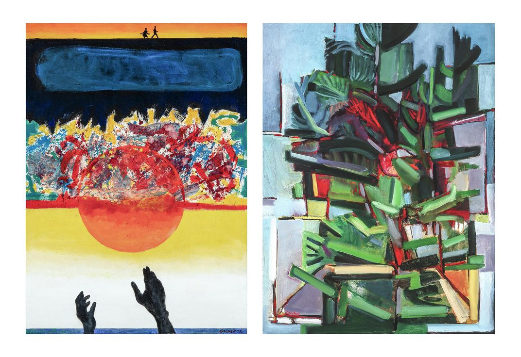 Two paintings by David Driskell