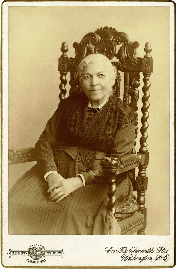 An 1894 photograph of Harriet Jacobs, who hid in an attic for nearly seven years after escaping enslavement