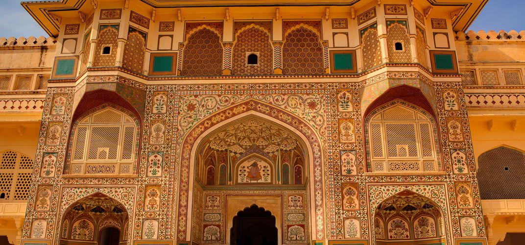 Detail of archway within the Amber Palace, Jaipur