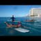 Christmas in Hawaii. Holiday surf session in front of the Sheraton Waikiki