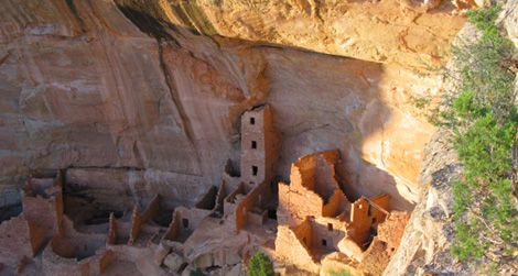 Square Tower House at Mesa Verde National Park