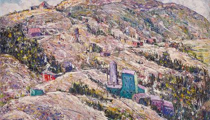 Ernest Lawson's Gold Mining, Cripple Creek