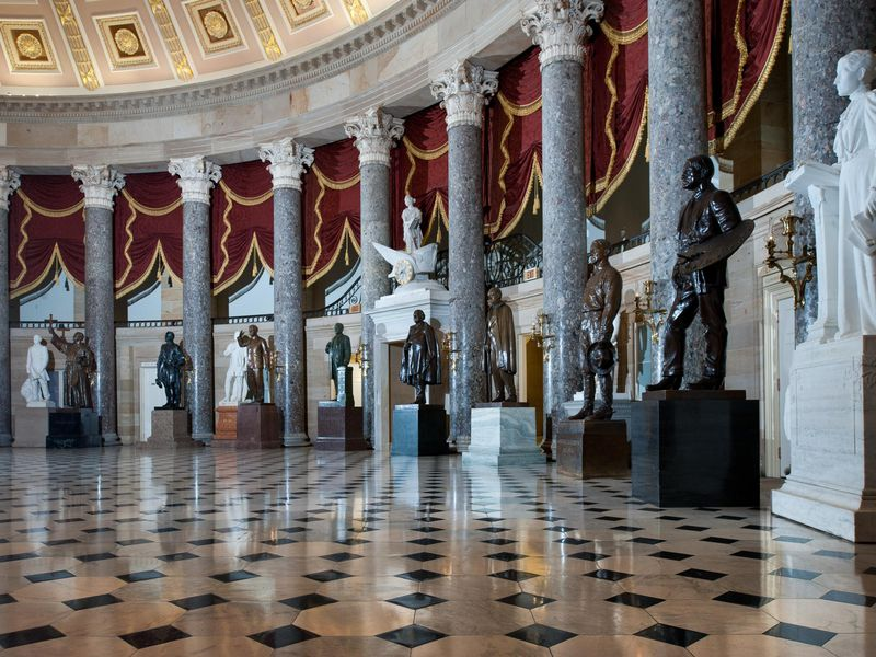 Old House Chamber, designated as National Statuary Hall by Lincoln in July 1864