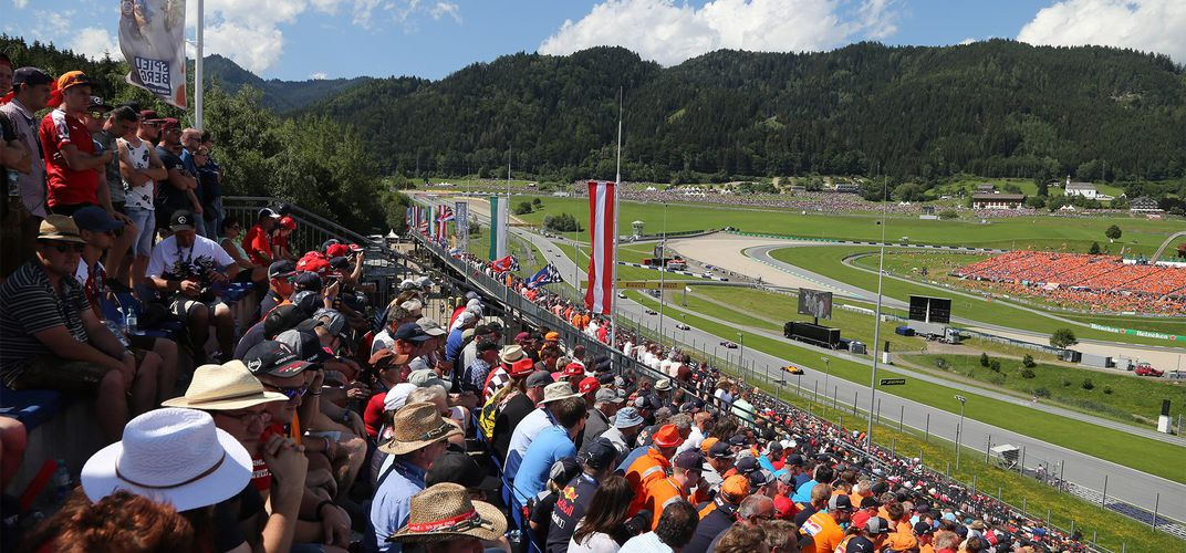 View from the grandstands, 2019 Austrian Grand Prix. Credit: Formula 1