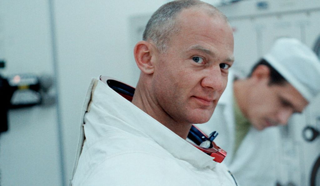 Lunar Module pilot Buzz Aldrin had more pressing tasks on his mind than turning the camera on before liftoff.