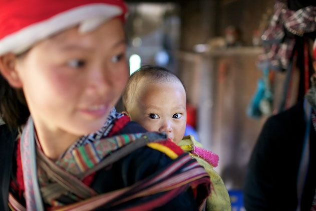 woman and baby in Vietnam