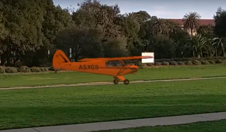 Watch a Simulated Airplane Fly in the Real World