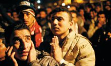 Anti Mubarak demonstrators
