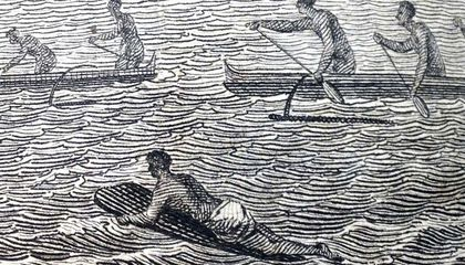 What the First European to Visit Hawaii Thought About Surfers