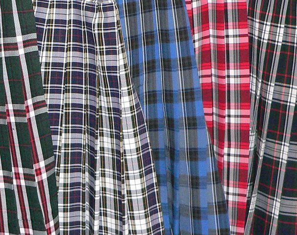 Varieties of plaid. Scottish clansmen showed their true colors.