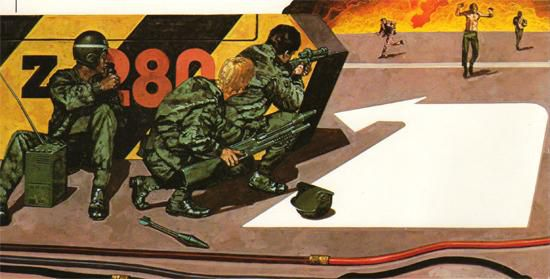 """""""An army force of the future deals with terrorists who take over an airport"""" (1981)"""