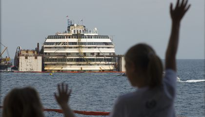 The Wrecked Costa Concordia Cruise Ship Is Finally Being Towed Away