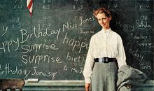 Norman Rockwell Happy Birthday Miss Jones