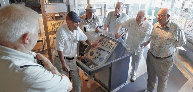 Veterans at the scene where Alan Shepard became the first American in space