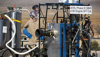 It lacks the glamour of Canaveral, but for Cal State students, an engine test stand in the desert beats the classroom.