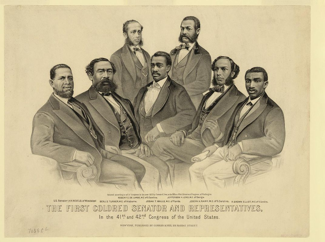 1872 lithograph of African American men who served in Congress