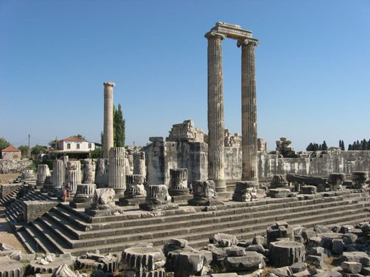 View Of The Temple Apollo Didyma Turkey Planned Around A Sanctuary And Oracle Sun God Beginning 334 BC