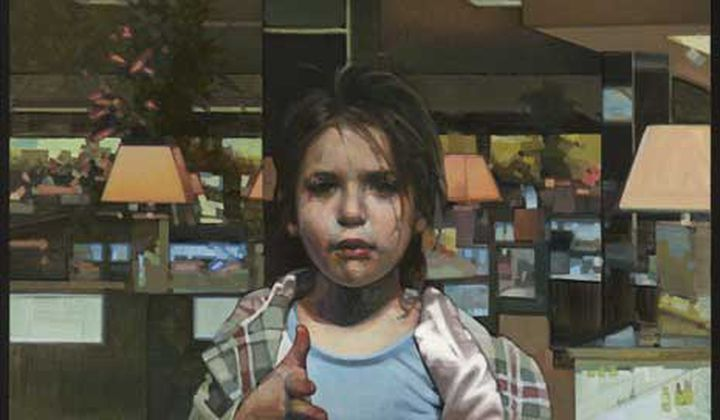 Girl in a Department Store No. 1 / Aaron Brown / Oil on panel, 2011 / Collection of the artist