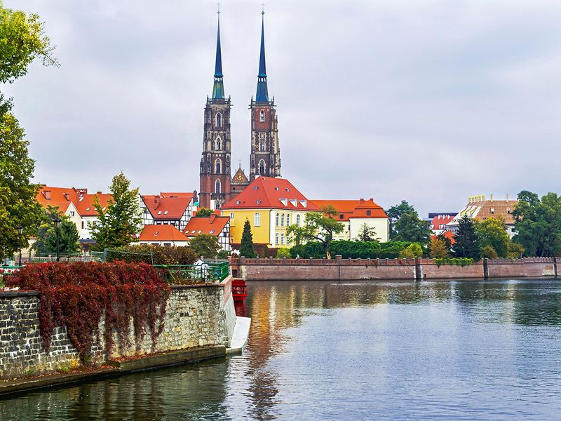 Cathedral of St. John on Tumski Island, Wroclaw, Poland.