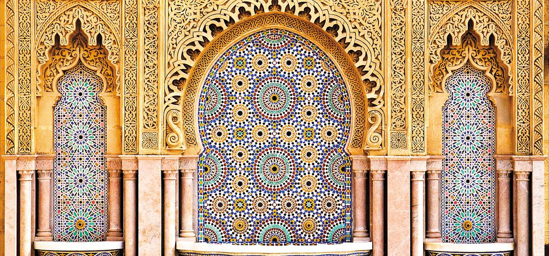 Traditional tile decoration in Morocco