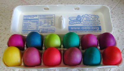 Easter Eggs Dyed the Natural Way