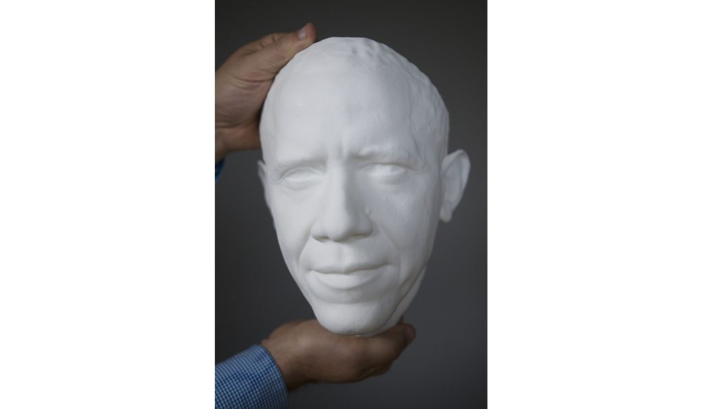 The Smithsonian-led team scanned the President earlier this year.