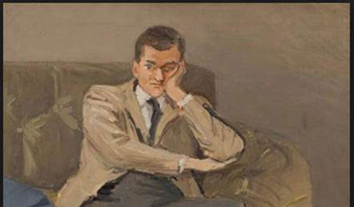 John Ashbery (Argyle Socks) by Fairfield Porter/ Oil on canvas, 1952/ Collection The Flow Chart Foundation. Courtesy Tibor de Nagy Gallery, New York