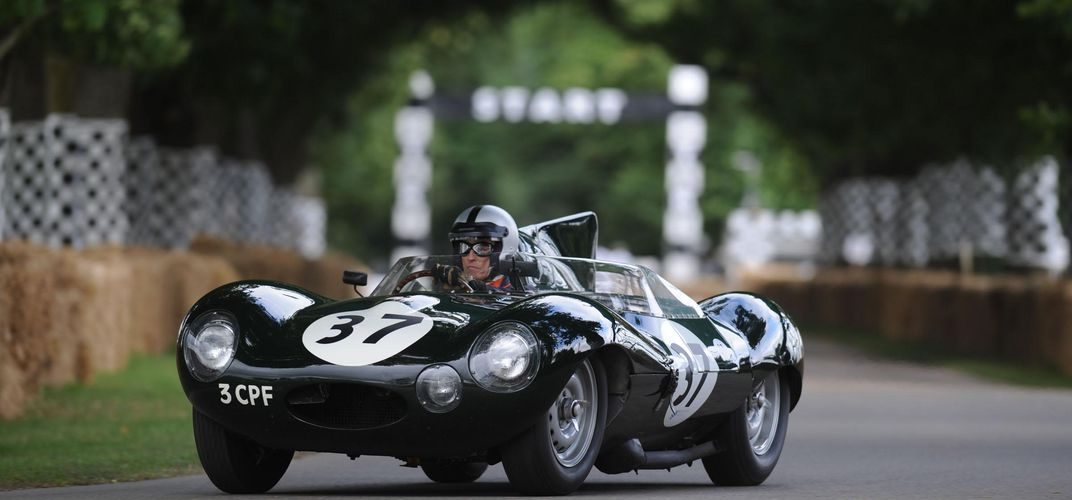 An old D-type Jaguar at Goodwood. Credit: Goodwood