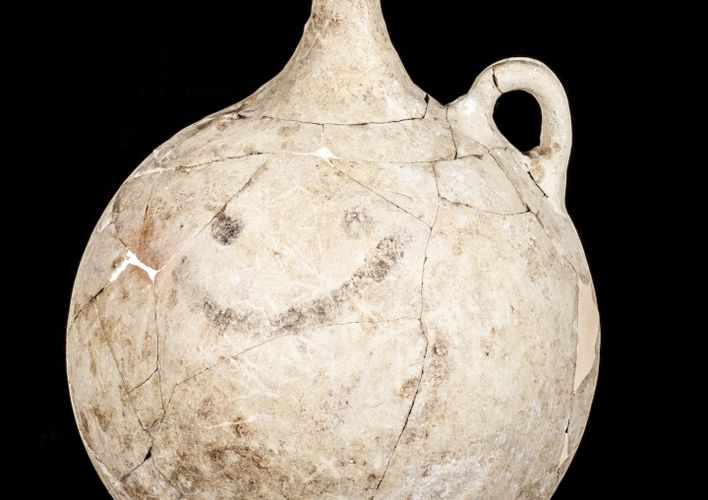 Caption: World's Oldest Smiley Face Found on Hittite Jug