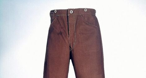 An early pair of Levi Strauss & Co.'s