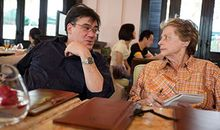 Mimi Sheraton with Alan Gilbert