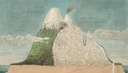 famous Chimborazo illustration cropped