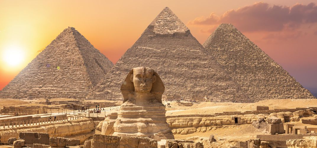The enigmatic Sphinx and Pyramids of Giza