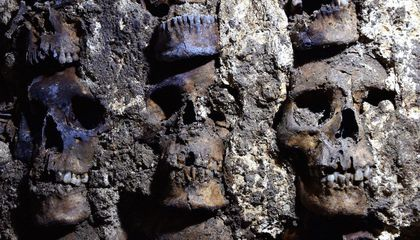 The Aztecs Constructed This Tower Out of Hundreds of Human Skulls