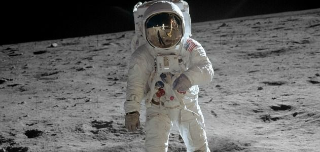 "Edwin ""Buzz"" Aldrin on the moon"