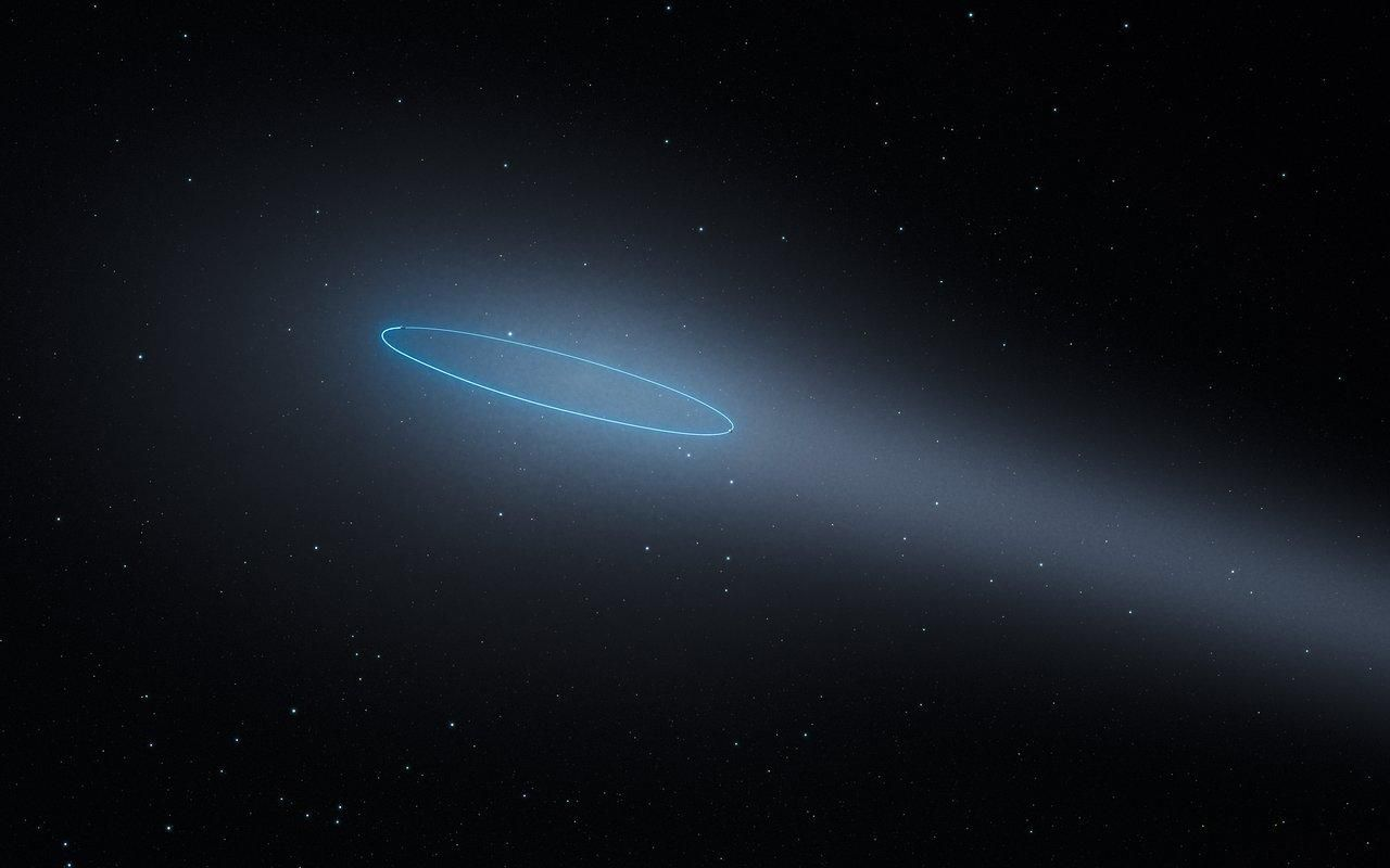 blue asteroid astronomers get closeup look at bizarre - HD 1280×800