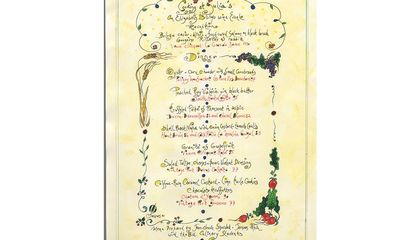 Jacques Pépin Donates a Hand-Painted Menu From His Last Supper With Julia Child