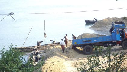 The Demand for Sand is so High There are Illegal Sand Mining Operations