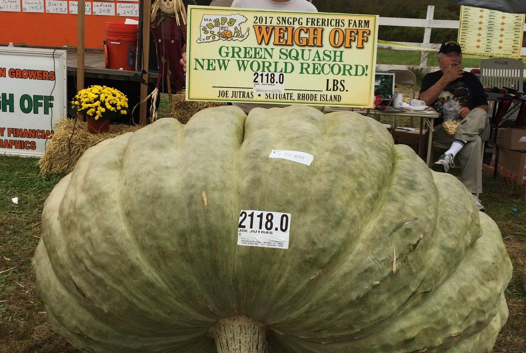 Great pumpkins! Grower wins trifecta of giant food titles