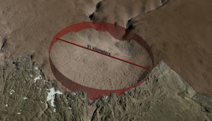 Massive Impact Crater Found Under Greenland's Ice