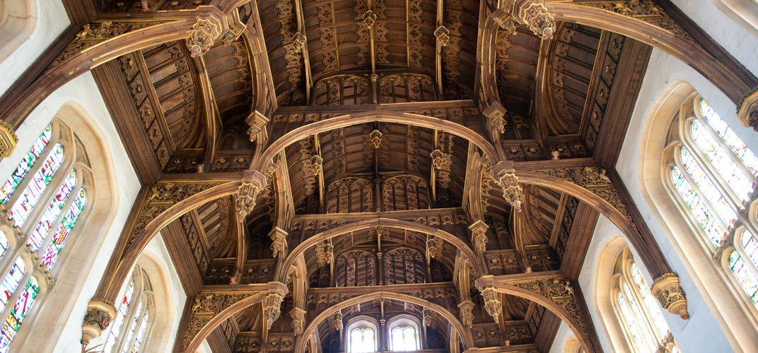 Tudor ceiling of Henry VIII's Great Hall, Hampton Court