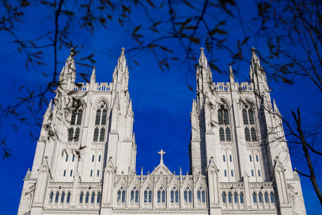 restored west towers of Washington National Cathedral