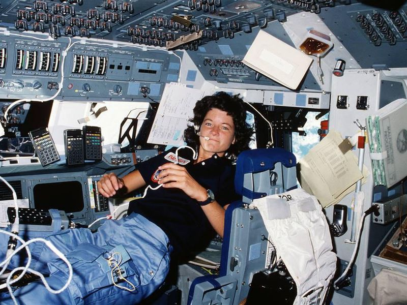 Mission specialist Sally Ride became the first American woman to fly in space.