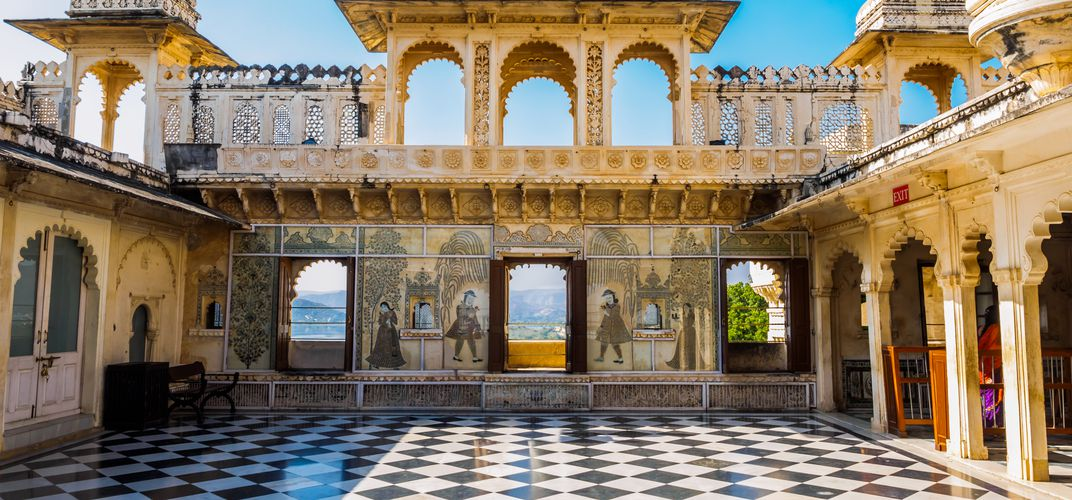 Courtyard of the City Palace, Udaipur